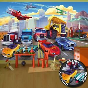 Fototapete Kinderzimmer Autorennen Abenteuer Cars Flugzeug Wandtapete Fotoposter