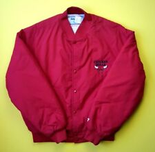Chicago Bulls retro vintage jacket size LARGE Swingster ig93