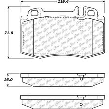 Disc Brake Pad Set-RWD Front,Rear Centric 102.08470