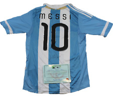 LIONEL MESSI SIGNED ADIDAS® JERSEY w/COA Argentina Autographed Authentic