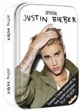 Justin Bieber Gift Tin of 3 Books Containing Facts Puzzles Posters Stickers