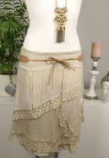 Gonne e minigonne da donna in cotone beige taglia 40