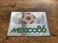 PANINI WORLD CUP FOOTBALL MEXICO 86 1986 - STICKER NUMBER 2 - MINT CONDITION