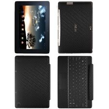 Skinomi Carbon Fiber Black Skin+SP for Asus EEE Pad Transformer Prime TF201+KB