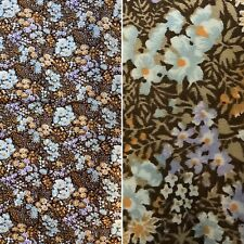 Vintage Fabric Ditsy Floral Print 69 X 65 Inches Thick Cotton