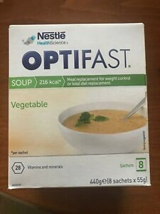Nestle Optifast Vegetable Soup Meal Replacement - 55g x 8 - NEW
