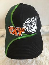 Arctic Cat Black Embroidered Emblem Adjustable Hat Authentic Snowmobile NEW