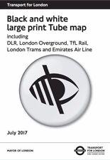 Black & White Large Print London Underground Tube Map Poster Brand New 2017