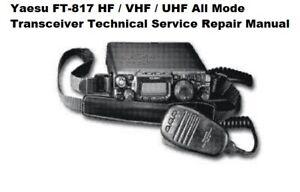 Yaesu FT-817 HF / VHF / UHF All Mode Transceiver Technical Service Repair Manual
