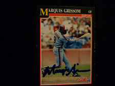 MARQUIS GRISSOM 1991 SCORE SIGNED AUTOGRAPHED CARD #234 EXPOS