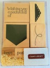 Close To My Heart Pocket Full Of Posies 6 Stamp Set CTMH S579 Good Condition