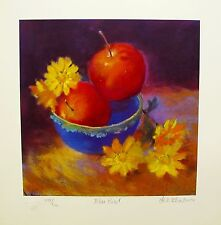 "NEL WHATMORE ""BLUE BOWL"" Hand Signed Limited Edition Lithograph Art"