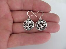 Sterling Silver Tree of life sun and moon dangle earrings