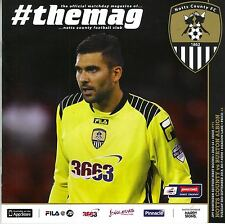 NOTTS COUNTY  V BURTON ALBION 2013  EXCELLENT CONDITION.