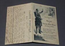 CPA CARTE POSTALE GUERRE 14-18 1915 PRIERE AU JEUNE BON DIEU THEODORE BOTREL