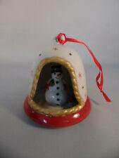 Villeroy & Boch My Christmas Tree Glocke mit Schneemann Aufhänger Weihnachten