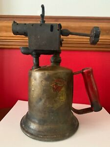 ANTIQUE BRASS BLOW TORCH CLAYTON & LAMBERT CO Made in USA Steampunk Tools