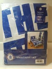 CHELSEA FC DUVET PILLOW CASE QUILT COVER SINGLE BOYS CHARACTER BEDDING SET NEW