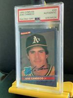 1986 Donruss Jose Canseco Rookie Auto. Psa Graded. Rare. Benefits Charity❤️😊