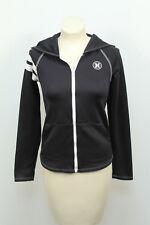 Hurley Nike Dri Fit Black and White Zip Up Hoodie Sweatshirt Sz XS Hooded