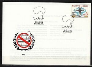 SLOVAKIA 1994  FDC SC # 181  Intl. Stop Smoking Day