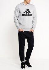 Adidas Sport Essentials Logo Hoodie Fleece - Grey - XL 46/48 Chest - RRP £50