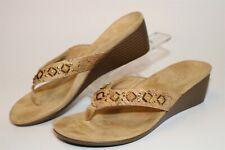 Vionic Embellished Wedge Flip Flop 7.5 38.5 Womens Comfort Shoes Marceau TVW4918
