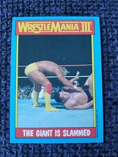 HULK HOGAN TOPPS CHEWING GUM WWF VINTAGE 1987 TRADING CARD - GIANT IS SLAMMED
