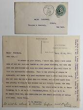 Antique Letterhead & Envelope, E.H. Hopkins Jeweler & Optician, Penn Yan NY 1890
