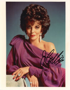 JOAN COLLINS SIGNED AUTOGRAPHED 8x10 PHOTO DYNASTY ALEXIS COLBY RARE BECKETT BAS
