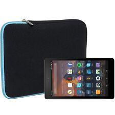 Slabo Tablet Tasche für Amazon Fire HD 8 Hülle Case Neopren - TÜRKIS / SCHWARZ