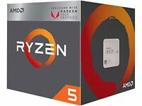 AMD YD2400C5FBBOX Ryzen 5 2400G CPU with Wraith Stealth Cooler and RX Vega Graph