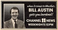 1983 KTTV TV NEWS AD~BILL AUSTIN WEATHER in LOS ANGELES CHANNEL 11
