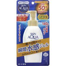 Rohto SKIN AQUA GOLD UV Super Moisture Gel Pump Sunscreen SPF50 140g F/S