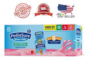 PediaSure Grow & Gain Nutrition Shake for Kids, Strawberry - 8 fl. oz. 24 pk