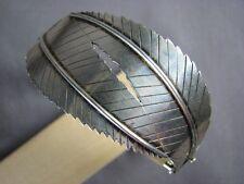 GEKA Signed Sterling Silver Modernist Vintage Bracelet Sweden Gertrude Engle Era
