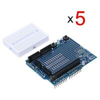 5 Pcs Mini Breadboard Prototyping Prototype Shield ProtoShield for Arduino UNO