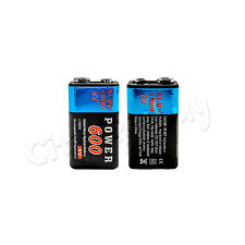 2 pcs  Power 9V volt 600mAh Rechargeable Ni-MH NiMH Battery 17R8H