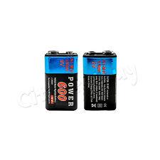 2 pcs  Power 9V volt 600mAh Rechargeable Ni-MH NiMH Battery 17R8H