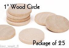 "CIRCLE ~ 1"" ~ Wood Cutout Craft Shape ~ Unfinished { Lot of 25 } ~ by PLD"
