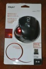 Digio2 Q Mouse Black Red Small Trackball Wireless Mouse Quiet 5 Button 2.4GHz