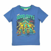 TURTLES t-shirt TORTUES NINJA 3 4 6 ou 8 ans bleu  manches courtes NEUF