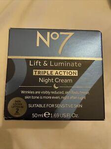No7 lift & luminate Triple Action Night Cream 50ml New