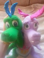 Playskool Zak & Wheezie Two Heads Plush Stuffed Toy 1999 Hasbro Pbs Dragon Tales