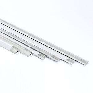 Aluprofil Aluminium Profile Alu Schiene Abdeckung Leiste für LED Strips Profil