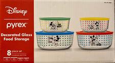 Pyrex Disney Mickey Mouse 8 Piece Set Glass Food Storage Bnib