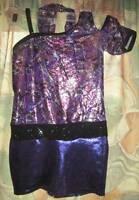 A Wish Come True Pump It Up Shortall #13110 purple dance costume girl ISC 6X 7