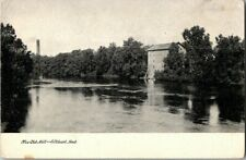EARLY 1900'S. OLD MILL. ELKHART, IND. POSTCARD w10