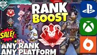 Ranked BOOST !SALE! ANY RANK | Apex Legends | PS4/XBOX/PC | Predator/Master rank