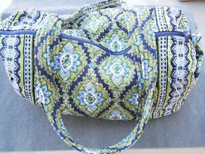 Vera Bradley Cambridge Small Duffle Bag Shoulder Bag Green Blue Paisley